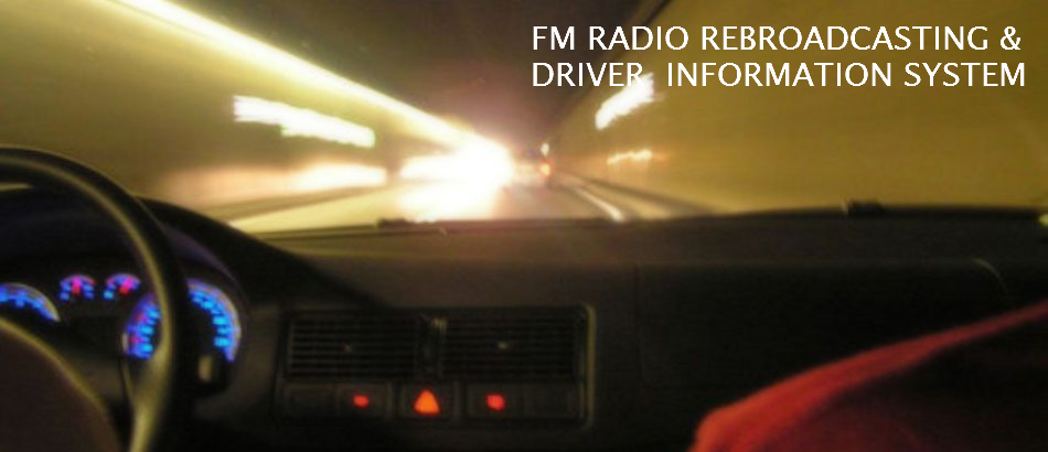 FM RADIO REBROADCASTING AND DRIVER INFORMATION SYSTEM