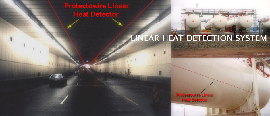 FIRE DETECTION SYSTEM WITH LINEAR HEAT DETECTOR