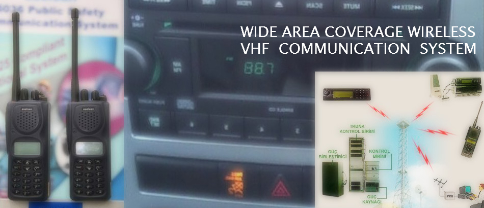 WIDE AREA COVERAGE VHF COMMUNICATION SYSTEM